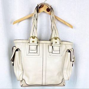 COACH Soho Mia Rare Ivory Leather Tote C06S-10050